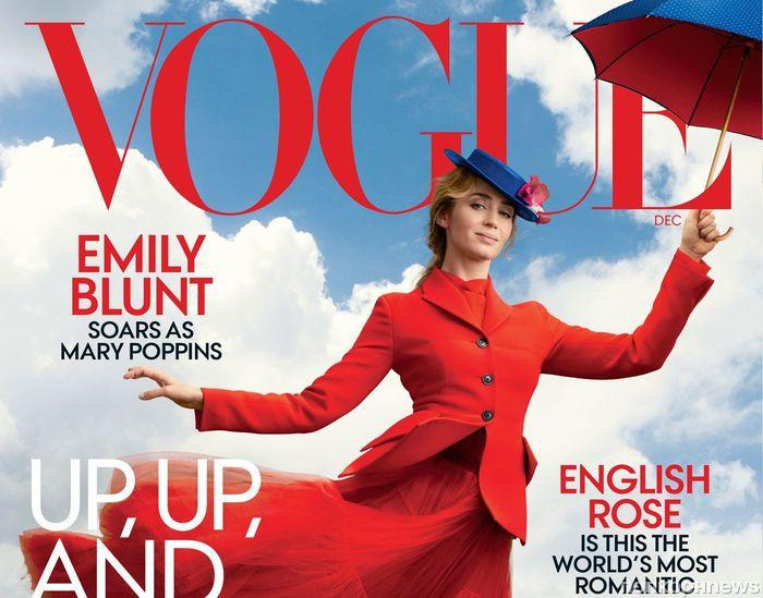 Эмили Блант примерила образ Мэри Поппинс для обложки Vogue