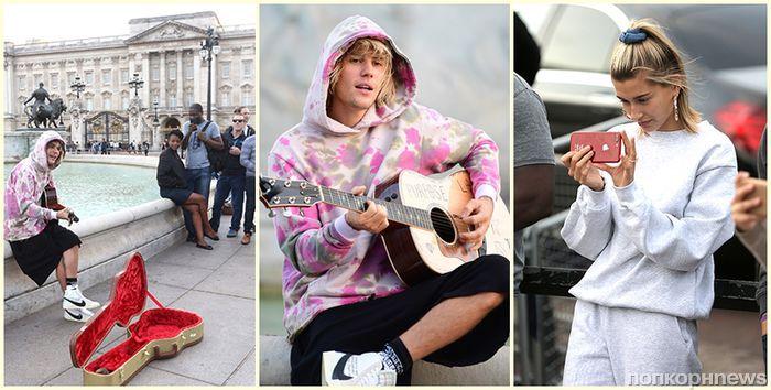 Видео: Джастин Бибер спел для Хейли Болдуин и фанатов в Лондоне