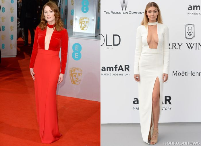 Fashion battle: Джулианна Мур и ДжиДжи Хадит
