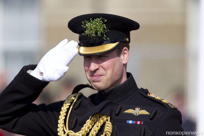 Принц Уильям на параде в честь Дня святого Патрика в Лондоне