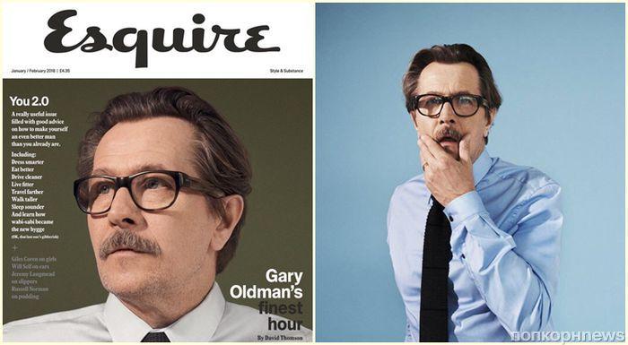 Гари Олдман в фотосессии для Esquire, январь 2018