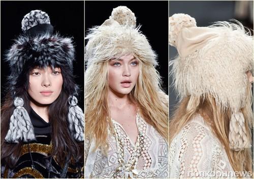женские шапки зима 2015-2016 фото
